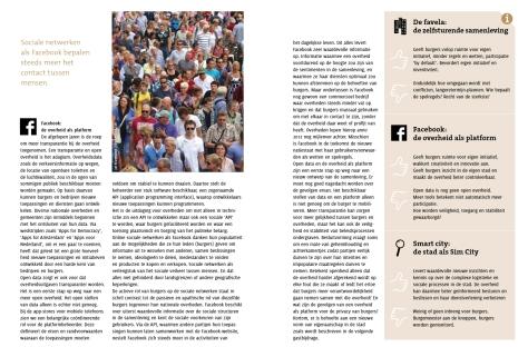 Drie toekomstvisies op de stad. Uit: Samen slimmer, M. Kreijveld (2012)