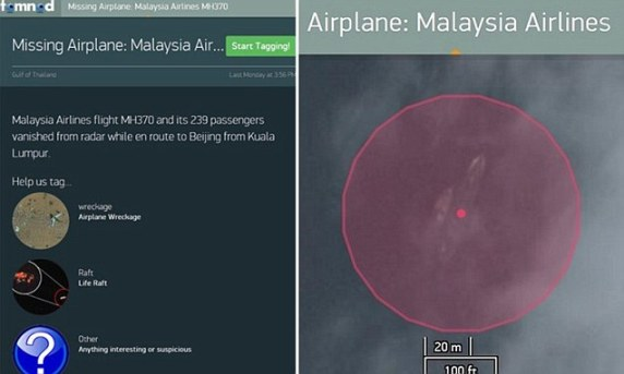 Tomnod Malaysia Airlines