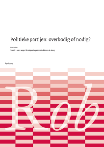 ROB Politieke partijen rapport